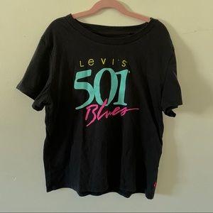 Levi's 501 blues t shirt